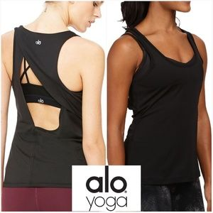 Alo Yoga Size L Open back  Workout Top